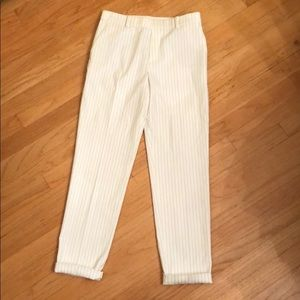 Uniqlo pull-on striped trouser pant